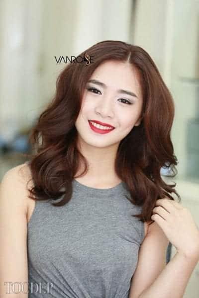 Các kiểu tóc ngang vai dành cho mặt dài