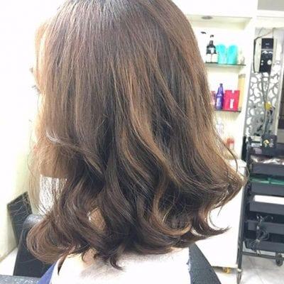 Tóc dài ngang vai đẹp cho mặt tròn