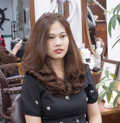 Các kiểu tóc ngang vai trẻ trung mặt vuông