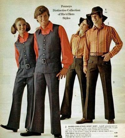 Những bộ trang phục trên tạp chí thời kỳ đầu của phong trào Unisex