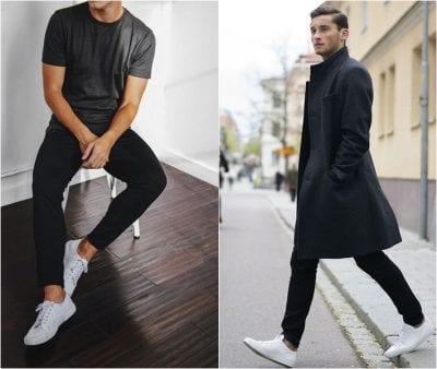 Trẻ trung, lịch lãm với cách mix giày thể thao trắng cùng quần Kaki và áo phông