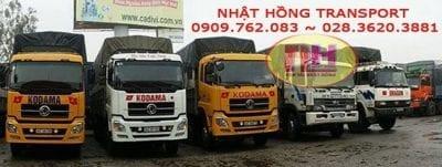 Hệ thống xe tải của Vận tải Nhất Hồng