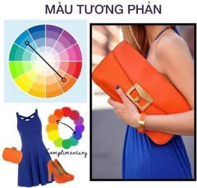 Chọn trang phục phối theo cách phối màu đối xứng