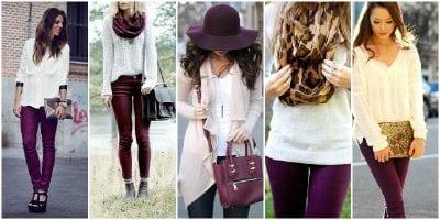 Phối màu sắc trang phục cùng màu tím và trắng