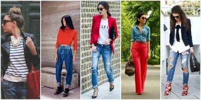 Phối màu sắc trang phục cùng gam màu đỏ và xanh da trời