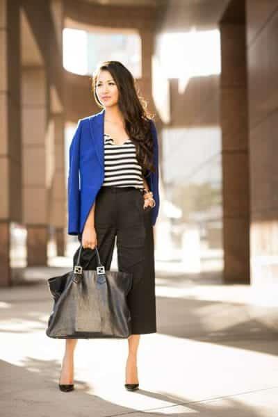 Những chiếc Blazer phối cùng quần Culottes sẽ khiến bạn trẻ trung và thanh lịch