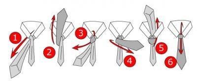 Hướng dẫn các bước thắt cà vạt kiểu Pratt Knot