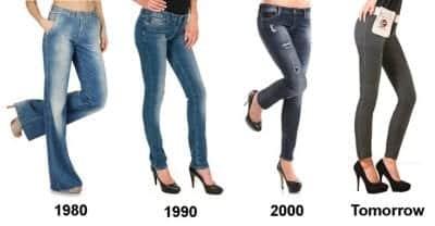 Mẫu quần skinny thay đổi theo từng thời kỳ