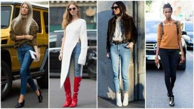 Mùa thu – đông là thời tiết hoàn hảo để chọn áo len cùng quần skinny