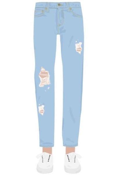 Kiểu dáng skinny jeans vào những năm 70 không bó sát, ôm vào chân của bạn như bây giờ