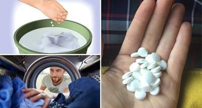 Sử dụng Aspirin để tẩy trắng quần áo là phương pháp an toàn và hiệu quả