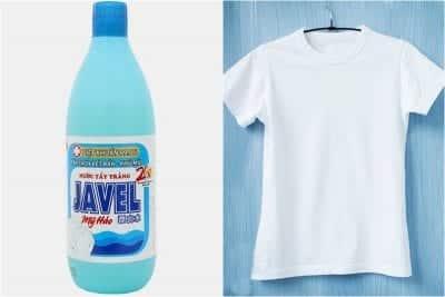Sử dụng nước tẩy Javel để tẩy trắng quần áo