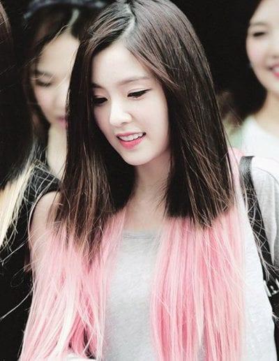 Tóc ombre màu hồng
