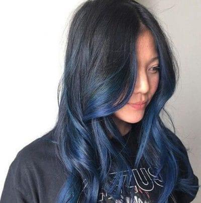 Tóc ombre xanh đen