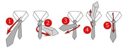 Hướng dẫn các bước thắt cà vạt kiểu Four in Hand