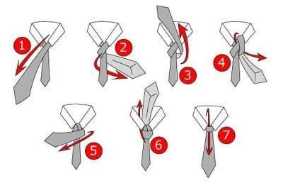 Hướng dẫn các bước thắt cà vạt kiểu Half Windsor
