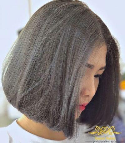 Kiểu tóc màu đen khói - Ảnh 1
