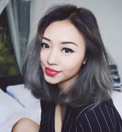 Kiểu tóc màu đen khói - Ảnh 2