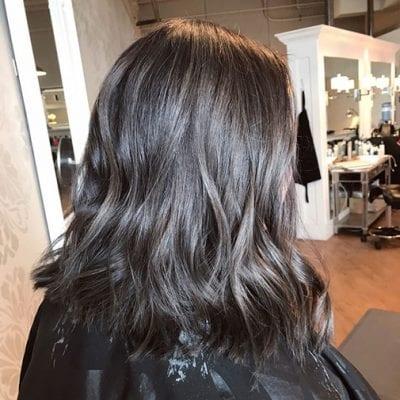 Kiểu tóc màu đen khói - Ảnh 8