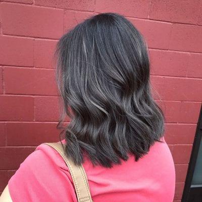 Kiểu tóc màu đen khói - Ảnh 9