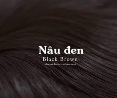 Tóc màu nâu đen - Ảnh 1