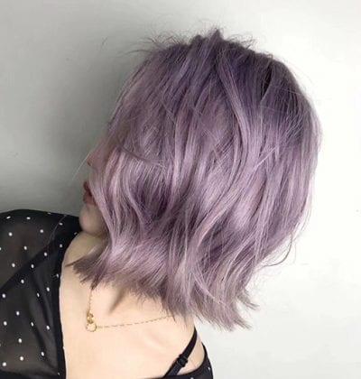 Kiểu tóc màu tím khói - Ảnh 18