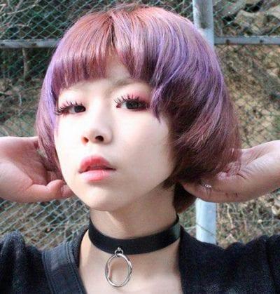 Kiểu tóc màu tím khói - Ảnh 19