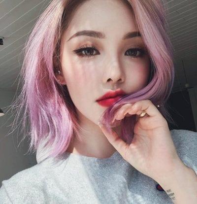 Kiểu tóc màu tím khói - Ảnh 2
