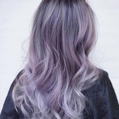 Kiểu tóc màu tím khói - Ảnh 20