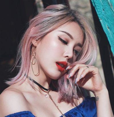 Kiểu tóc màu tím khói - Ảnh 6
