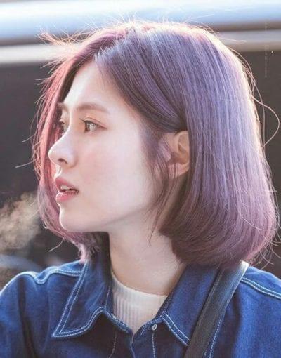 Kiểu tóc màu tím khói - Ảnh 7