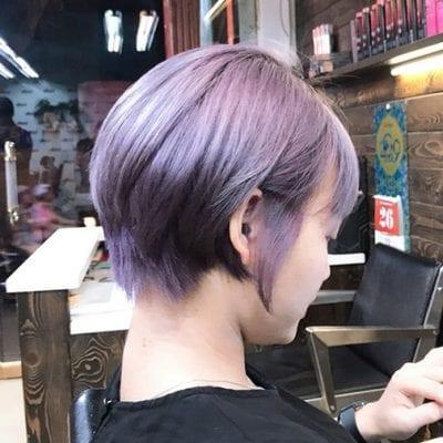 Kiểu tóc màu tím khói - Ảnh 8