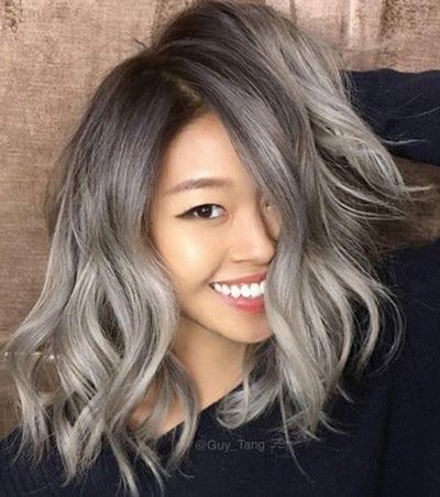 Màu tóc xám tro được nhiều ngôi sao lựa chọn làm mới mình