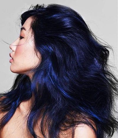 Tóc màu xanh đen - Ảnh 1
