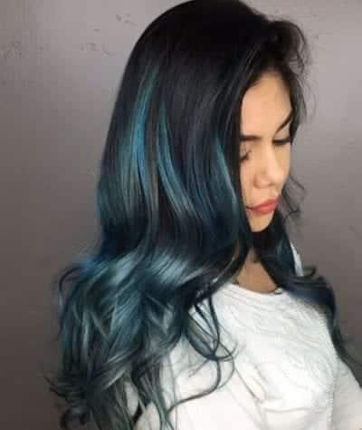 Tóc màu xanh đen - Ảnh 10