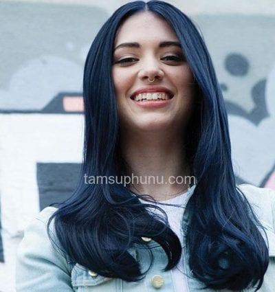 Tóc màu xanh đen - Ảnh 13