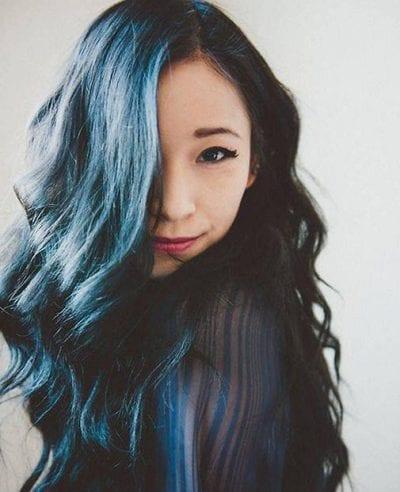 Tóc màu xanh đen - Ảnh 15