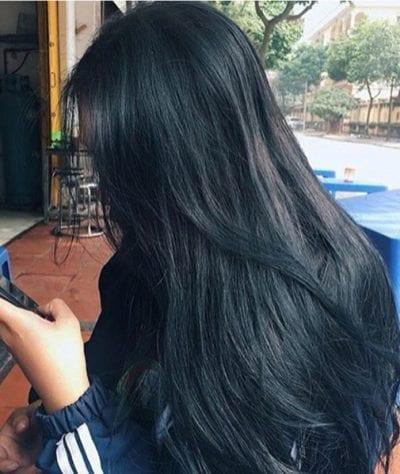 Tóc màu xanh đen - Ảnh 2
