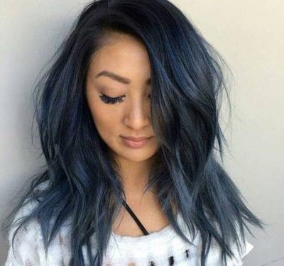 Tóc màu xanh đen - Ảnh 20