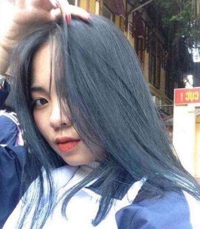 Tóc màu xanh đen - Ảnh 7