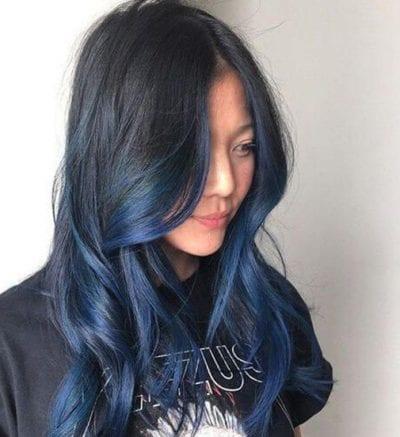 Tóc màu xanh đen - Ảnh 8