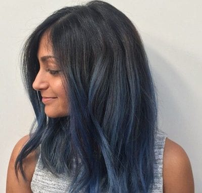 Tóc màu xanh đen - Ảnh 9