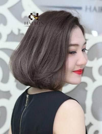 Tóc ngắn cho mặt tròn trán dô