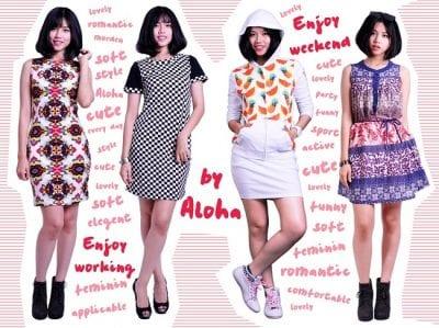 Shop Aloha Sài Gòn thiên về những bộ trang phục cá tính, năng động với màu sắc nổi bật