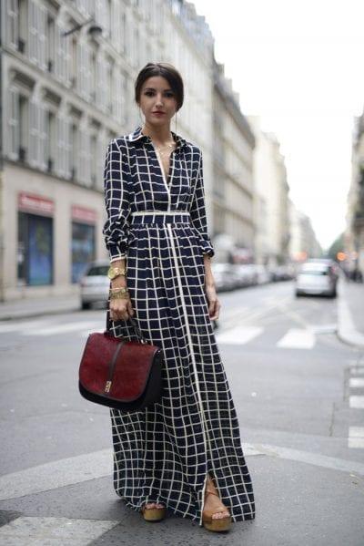 Váy maxi hoàn toàn có thể mặc theo một cách chỉn chu, formal như thế này