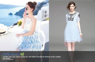 Xuongmaysi.com chuyên nhận may gia công các sản phẩm váy đầm giá rẻ với thiết kế thời trang đẹp mắt