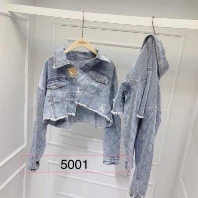 Áo khoác jean nữ tay quả trám – giá sỉ 105,000 – 110,000đ /cái.