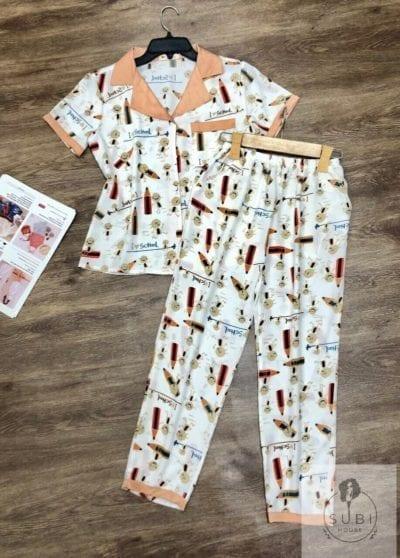 Đồ bộ Pijama lụa quần dài bút chì – giá sỉ 103,000 – 115,000đ /bộ.