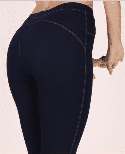 Quần legging dài giả jean nâng mông xanh đen – giá sỉ: 76,000 – 80,000đ/cái.