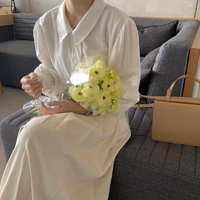 Váy trắng sơ mi